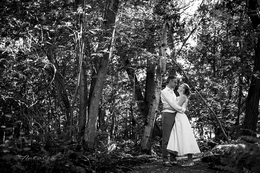 Bruidsfotograaf Fort Vivant in Bussum, buiten trouwen