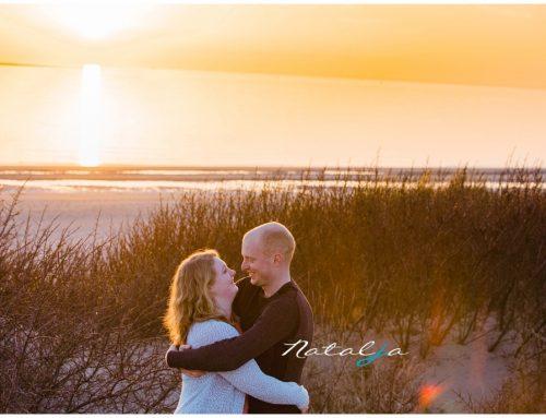 Loveshoot Rockanje tijdens zonsondergang | Michel en Cynthia