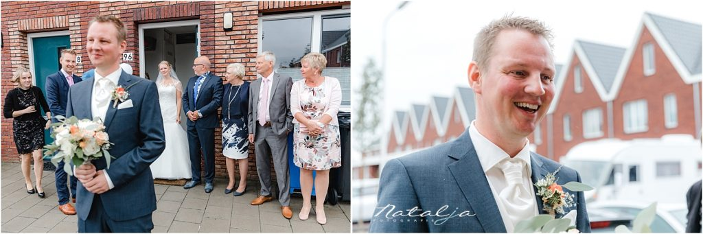 Herfst bruiloft Delft met veel regen- Trouwfotograaf (16a)