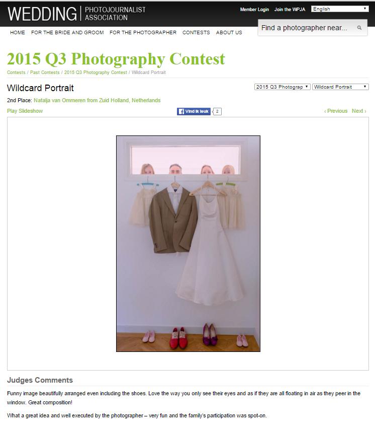 WPJA award - bruidsfotograaf award