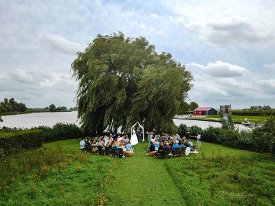 Drone fotografie bruiloft