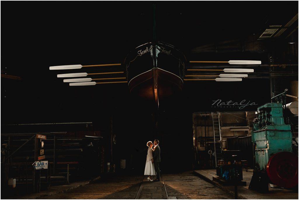 Stoer trouwen op eiland de Zaag Krimpen aan den IJssel