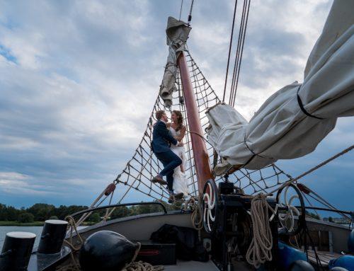 Trouwen op een zeilboot | Jurrien en Jasmijn