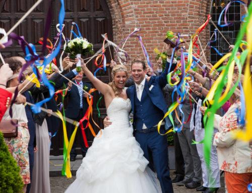Peter en Sylvana na de ceremonie